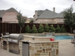 stonework and pool