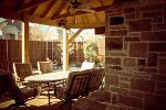 stonework patio